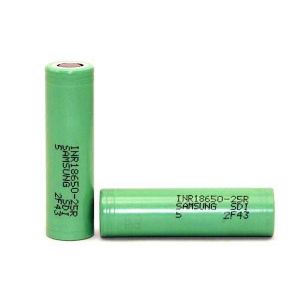 SAMSUNG INR18650-25R 2500mAh High-drain Battery 30A